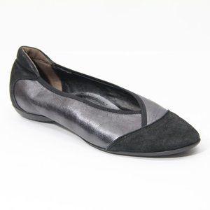 Sesto Meucci Ballet Flats sz 8.5 Metallic Leather